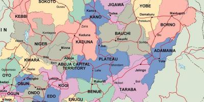Nigeria Hartă Hărți Nigeria Africa De Vest Africa